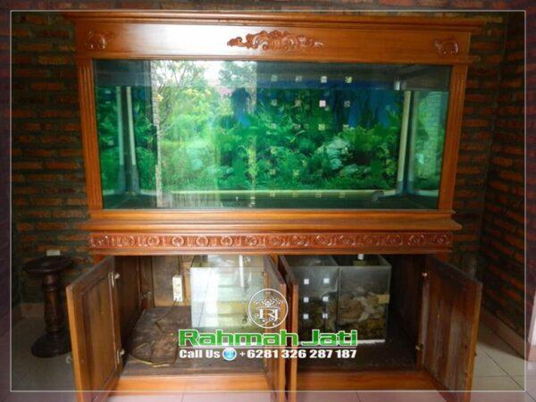 tempat aquarium ukiran