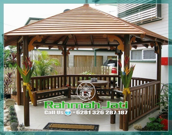 gazebo kayu kelapa