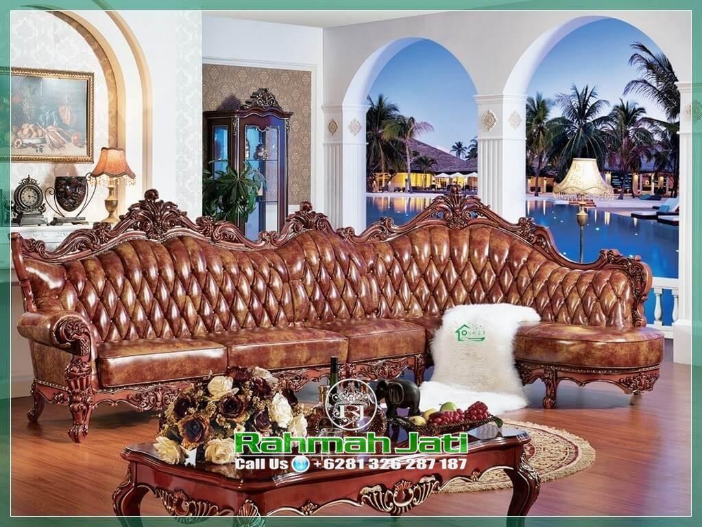 sofa tamu kayu jati